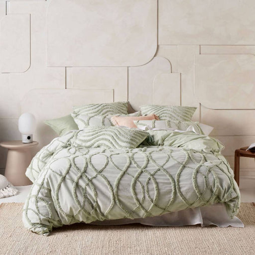 Amadora Wasabi Quilt Cover Set by Linen House