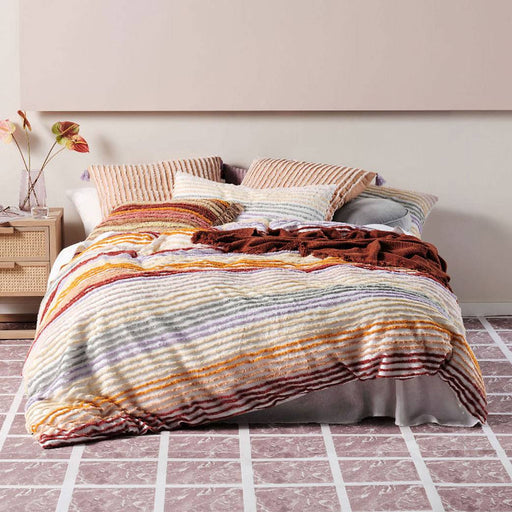 Nola Frappe Quilt Cover Set by Linen House
