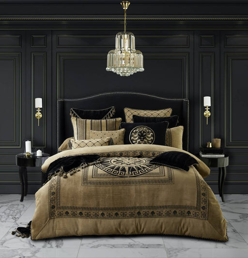 Massimo Gold Quilt Cover Set by Davinci