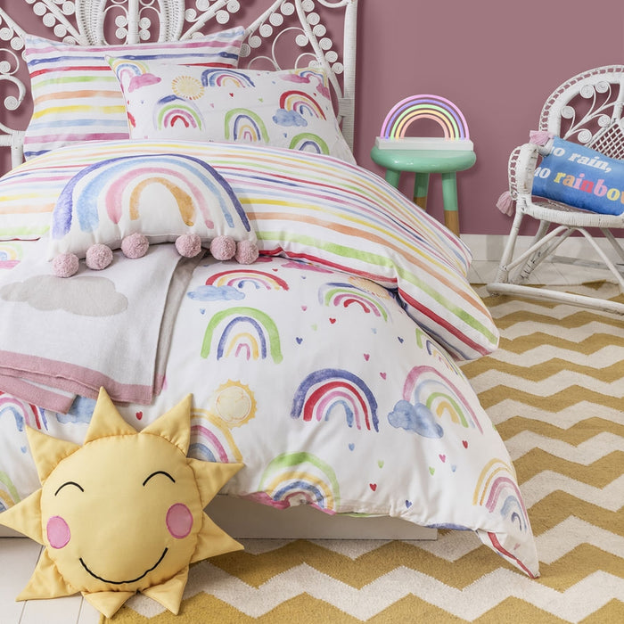 Over The Rainbow Jewel Quilt Cover Set By Private Collection Kids