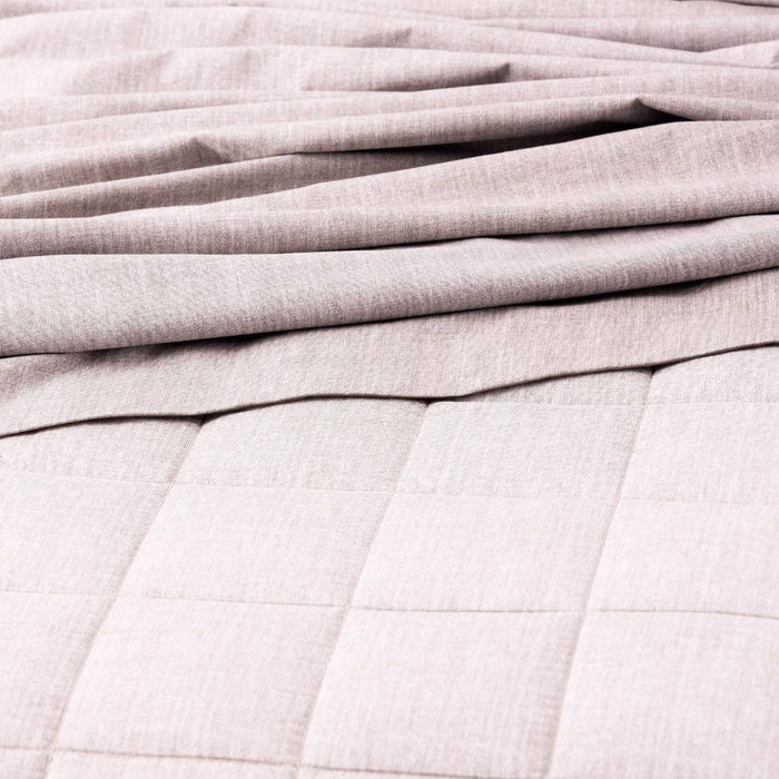 Park Avenue Paradis PLUM Washed Chambray Quilted Quilt Cover Set