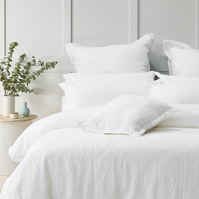 Colca White Quilt Cover