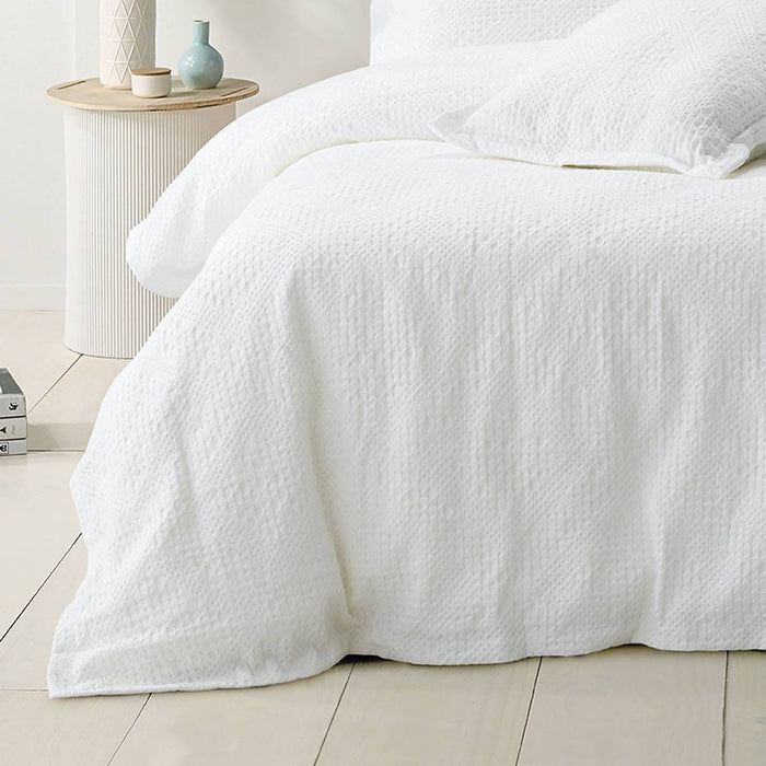 Colca White Quilt Cover Set by Bianca