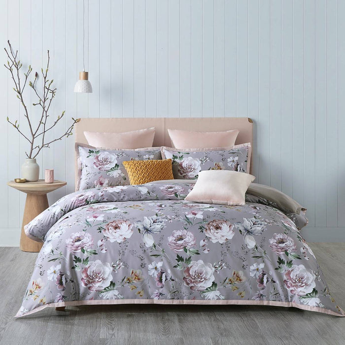 Montrose Aubergine Quilt Cover Set by Bianca