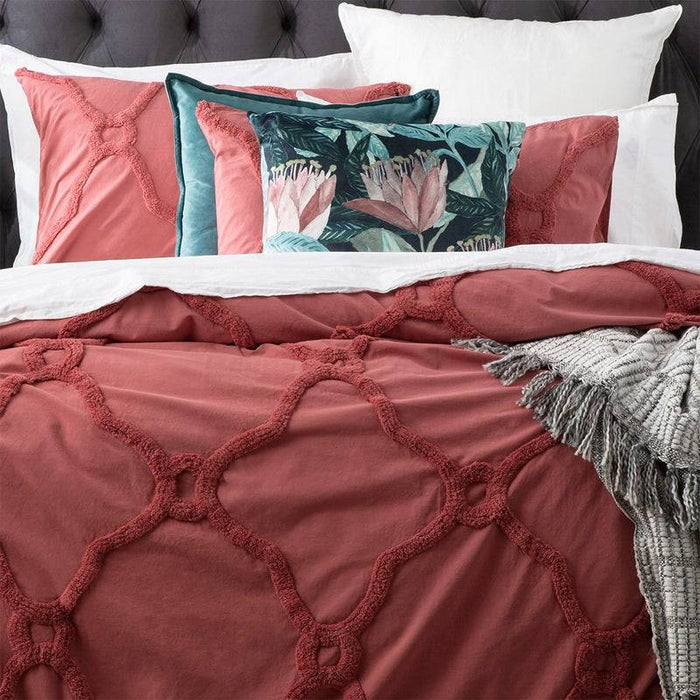 Renee Taylor Moroccan CEDAR Cotton Chenille Quilt Cover