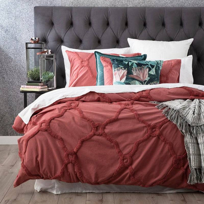 Moroccan CEDAR Cotton Chenille Quilt Cover Set by Renee Taylor