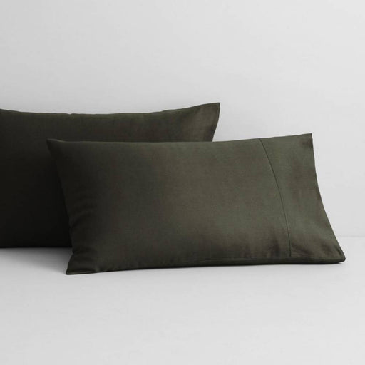 Abbotson Olive Linen Standard Pillowcase Pair by Sheridan