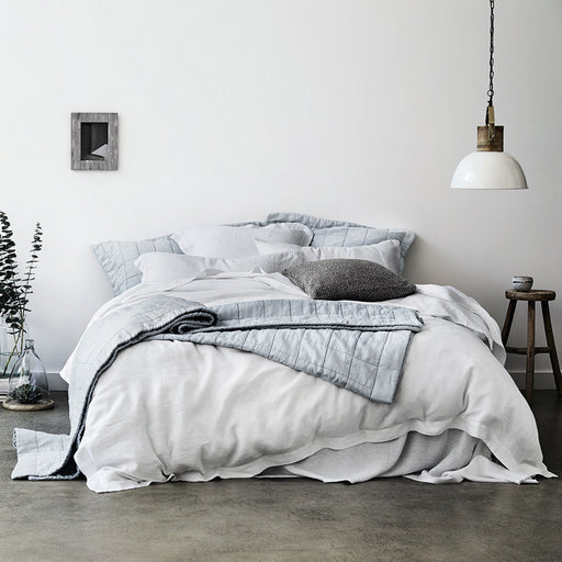 Abbotson White Linen Quilt Cover by Sheridan