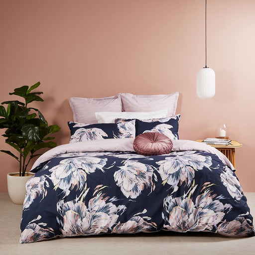 Valentine Navy Quilt Cover Set By Logan & Mason