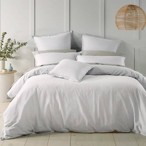 Wellington White Quilt Cover Set by Bianca