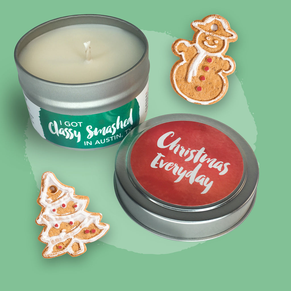 Christmas Everyday || Gingerbread House 4oz Tin