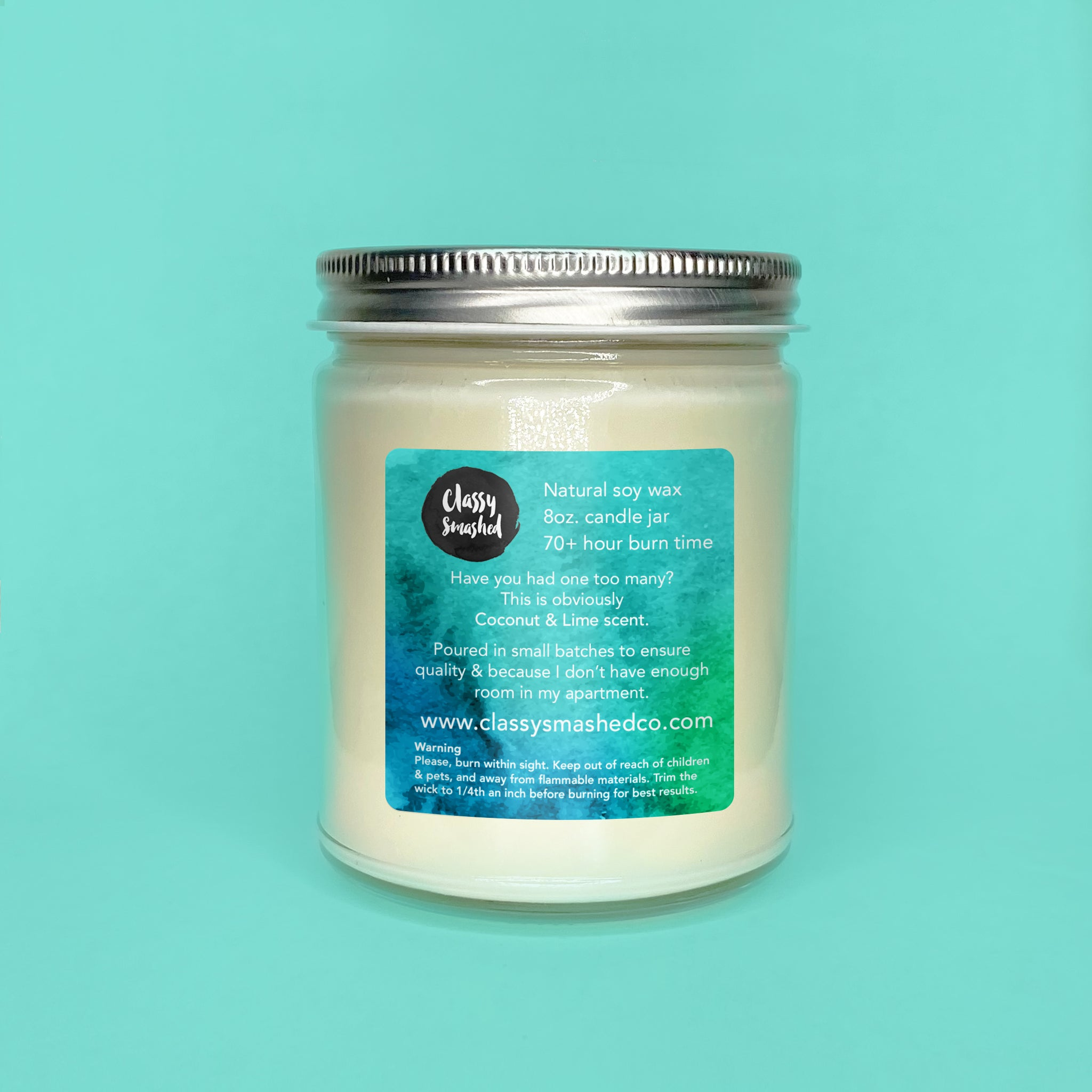Glen Coconut || Blue Coconut & Lime 8oz Jar