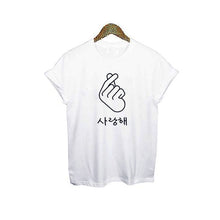 Load image into Gallery viewer, Finger Heart T-Shirt