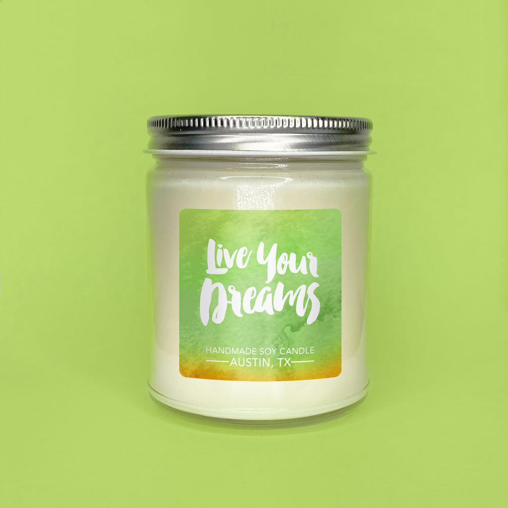Live Your Dreams || Honeydew Melon 8oz Jar