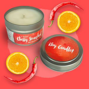 ¡Soy Candle! || Orange & Chili Pepper 4oz Tin