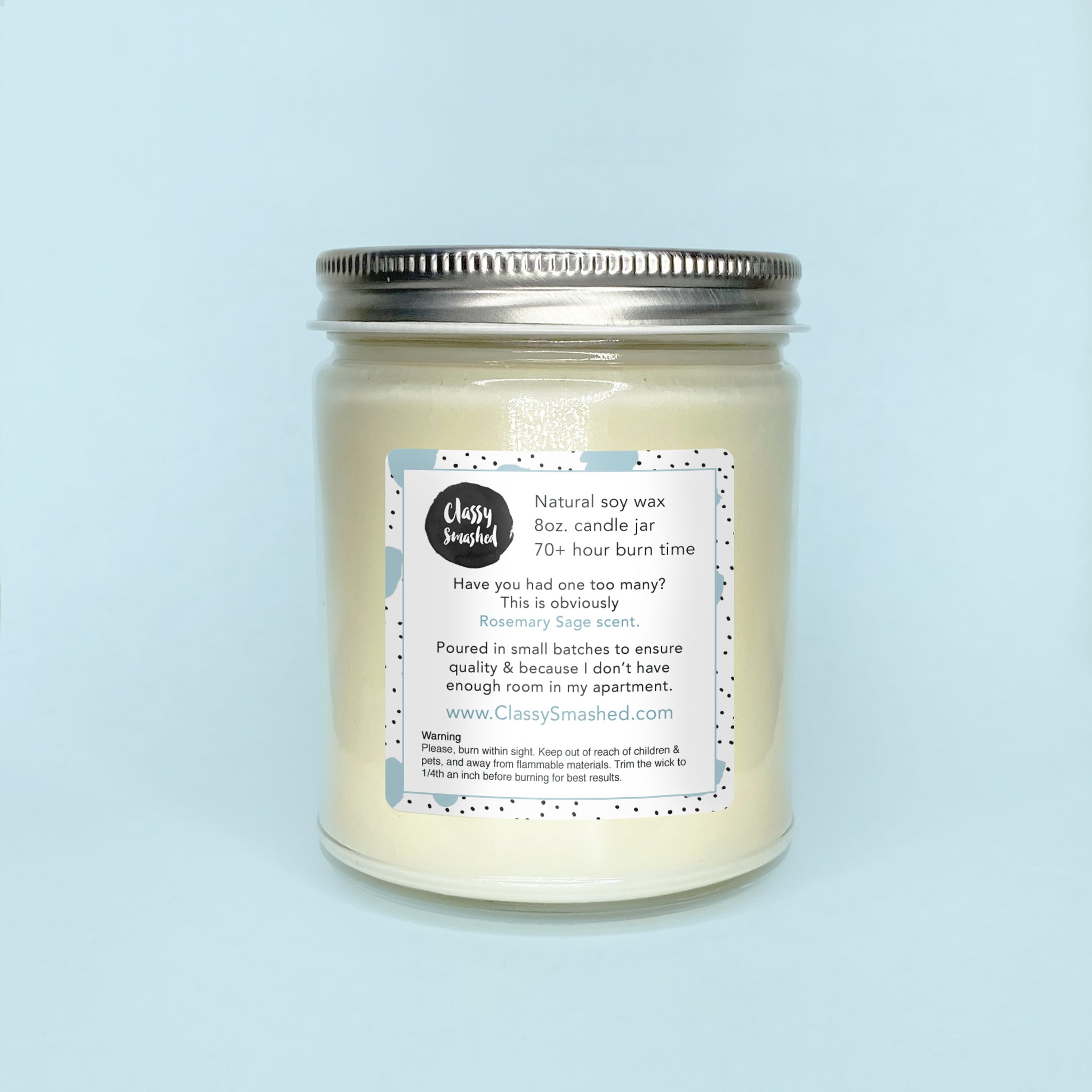 Thank the Lorde || Rosemary Sage 8oz Jar