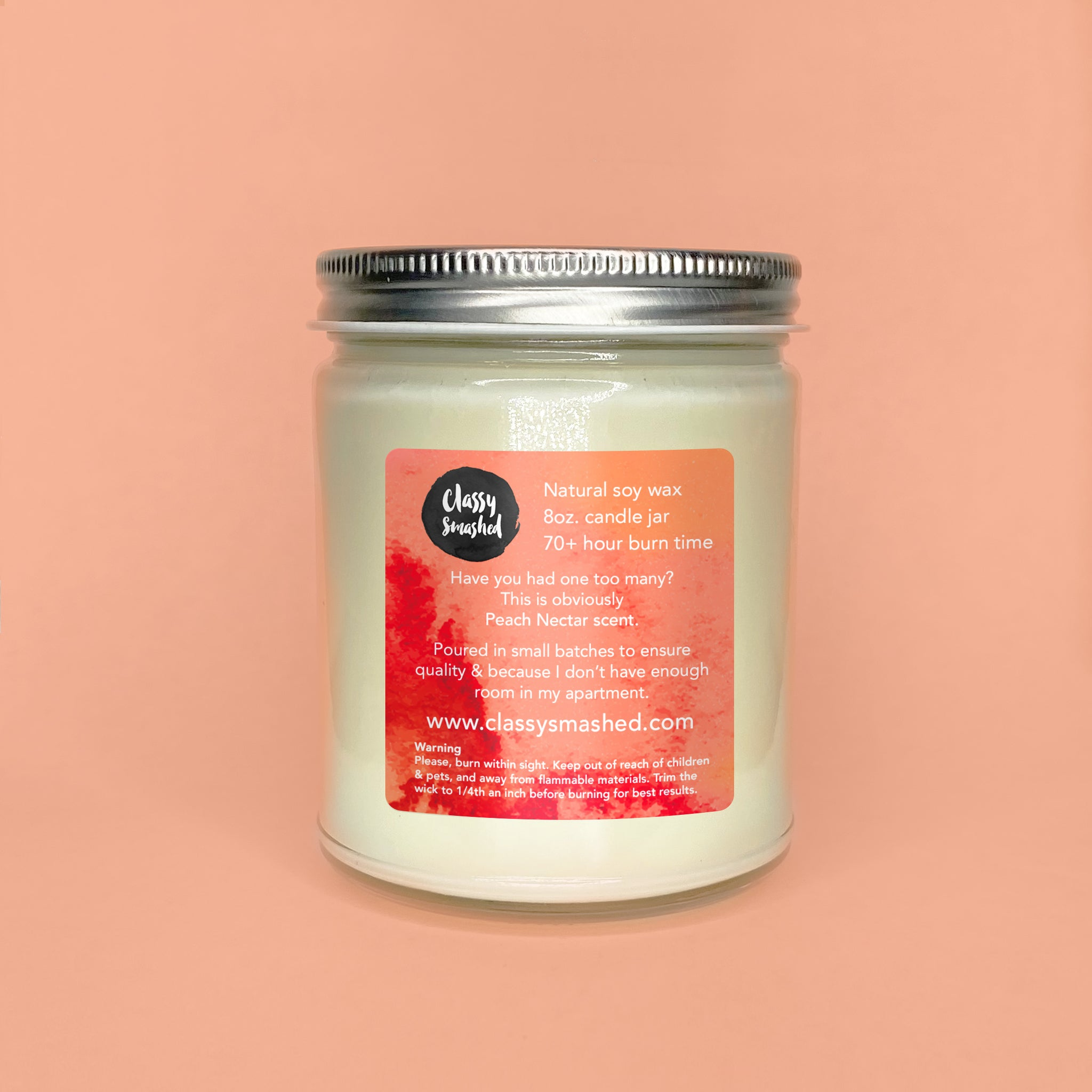 Thick Texas Girl || Peach Nectar 8oz Jar