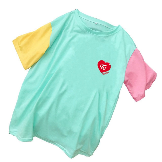 Twice Colored Sleeve T-Shirt