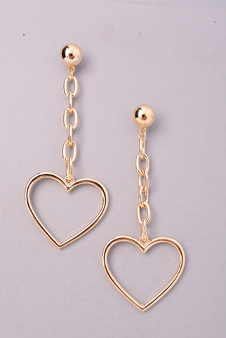 """Sweet Thang"" Heart Earrings"