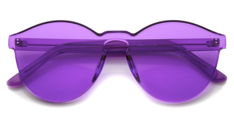 """See Through You"" Purple Translucent Glasses"