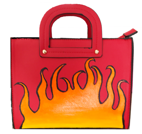 """Flamed Up"" Tote"