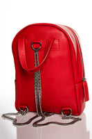 Chain Backpack - Red