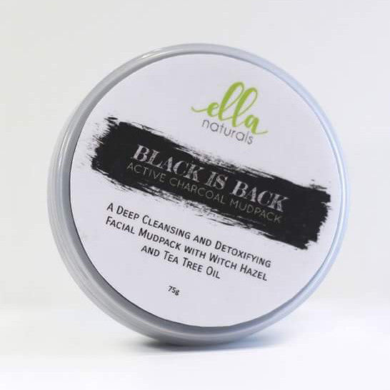 Ella Naturals Black is Back Activated Charcoal Mudpack