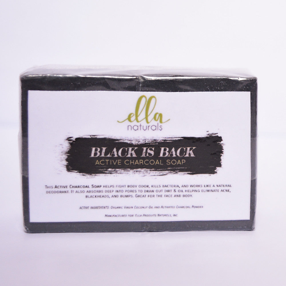 Ella Naturals Black is Back Activated Charcoal Soap