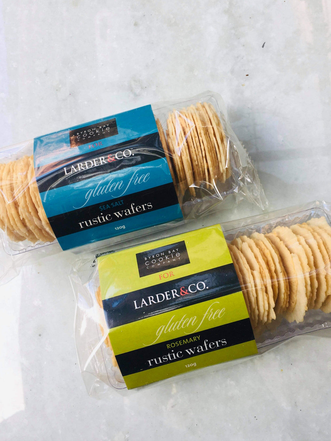 CRACKERS - Larder & Co Rustic Wafers - Sea Salt