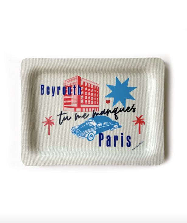 'Tu me Manques' PARIS BEYROUTH | tray