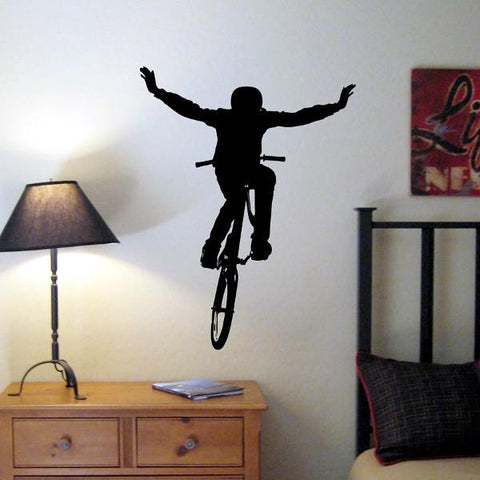 BMX Bike Jump Vinyl Wall Decal