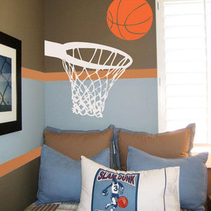 Nothin' But Net Basketball Vinyl Wall Decal Set