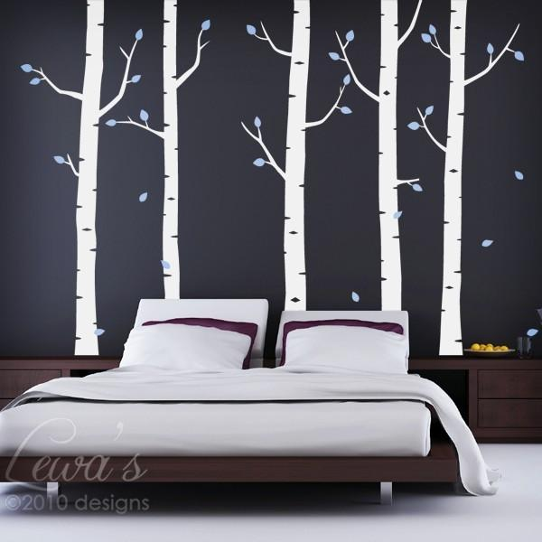 Birch Tree Forest Vinyl Wall Decal Set