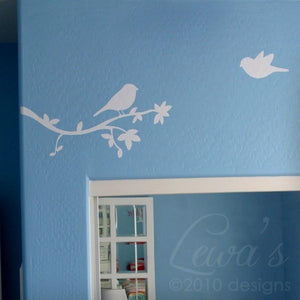 Birdies and Branch Vinyl Wall Decal Set