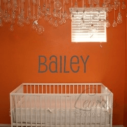 CUSTOM Name Vinyl Wall Decals