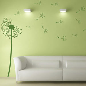 Dandelion Blowing in the Wind Vinyl Wall Decal
