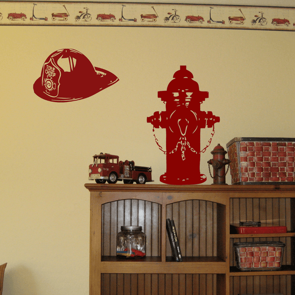 Fire Hydrant Vinyl Wall Decal