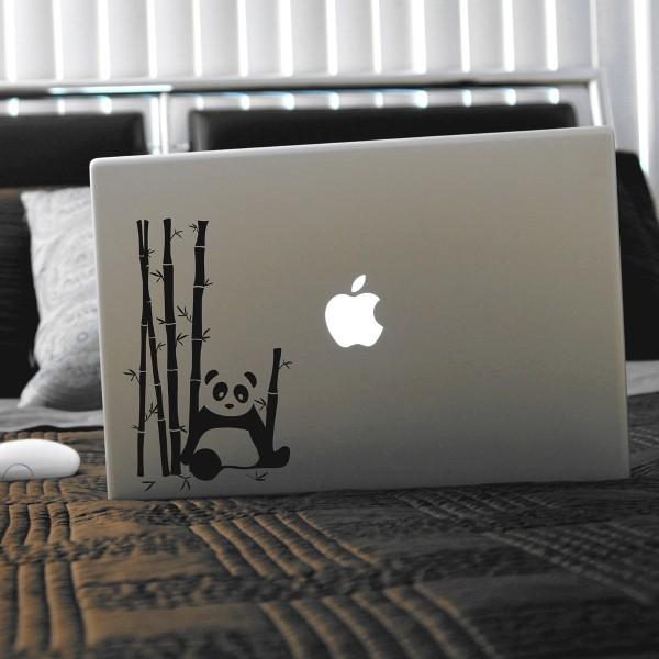 Panda Bear Bamboo Garden Laptop Decal