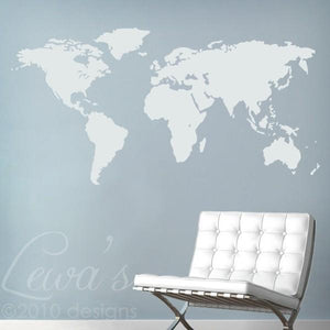 World map vinyl wall decal lewas designs world map vinyl wall decal gumiabroncs Choice Image