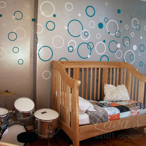 Bubbles and Circles Wall Decal Set - 2 Colors!