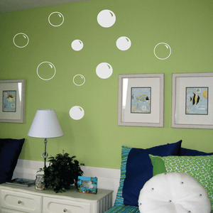 Bubbles Vinyl Wall Decal Set