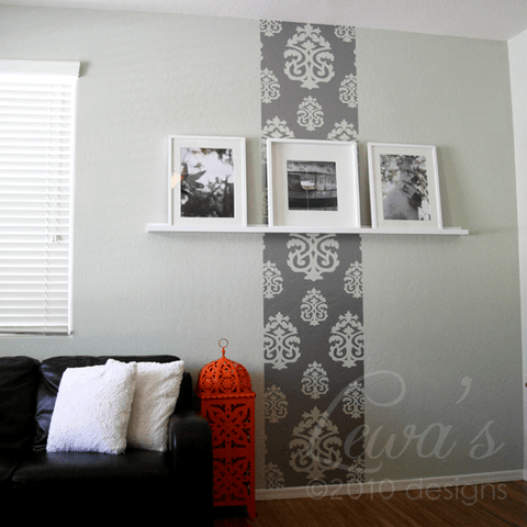 Damask Vinyl Wall Decal Accent Strip
