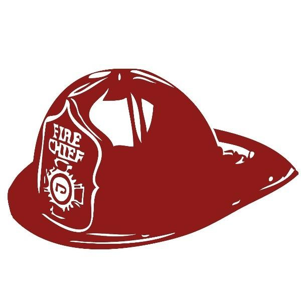 Fire Chief Fireman's Hat Vinyl Wall Decal