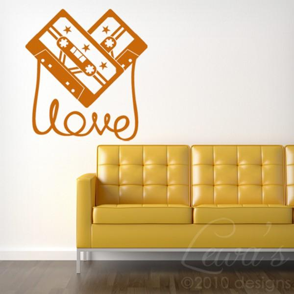 Cassette Tape of Love Vinyl Wall Decal