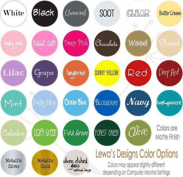 CUSTOM Name Polka Dot Vinyl Decal Set