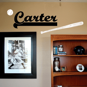 CUSTOM Baseball Name Vinyl Wall Decal Set
