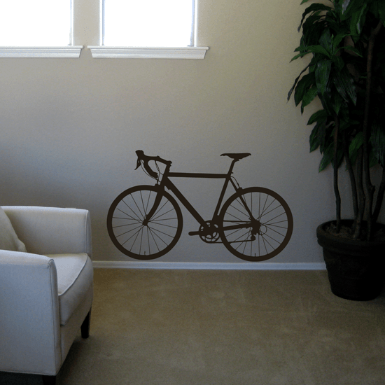 Street Bicycle Vinyl Wall Decal
