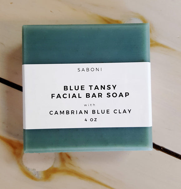 Blue Tansy with Cambrain Blue Clay Facial Cleansing Bar