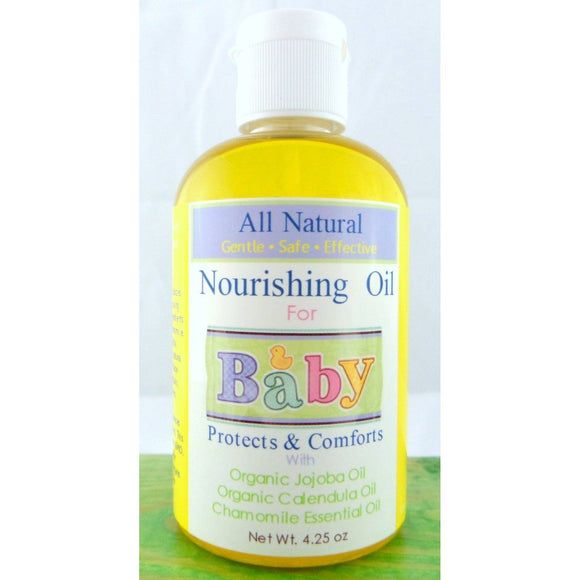 All Natural Nourishing Organic Baby Oil, Baby Massage Oil, Diaper Bag, Baby Shower, Bath Oil-Cedar Creek Essentials