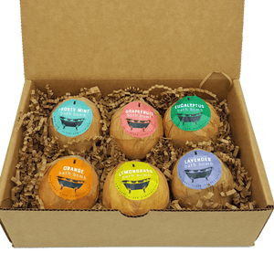 Bath Bomb Gift Set of 6 XL Assorted - All Natural Bath Bombs - Cedar Creek Essentials
